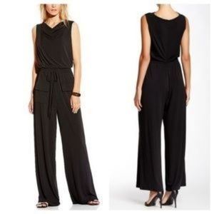 Gorgeous Stylish Vince Camuto Romper Black Wideleg